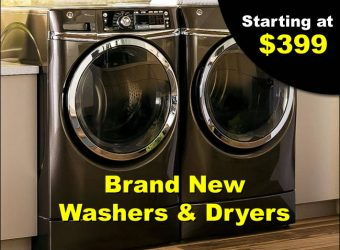 Brand New Washers and Dryers